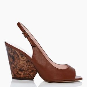 Kate Spade Peep toe marbled block heel